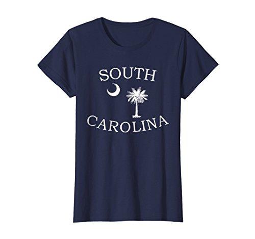 Womens South Carolina State Flag Shirt Moon & Palmetto Tree Tee Large (South Carolina State Bird)