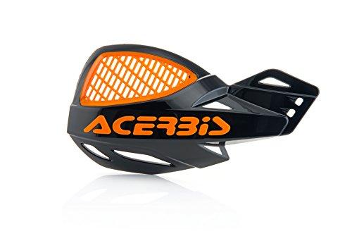 Acerbis Uniko MX Vented Handguards (BLACK/ORANGE) by Acerbis