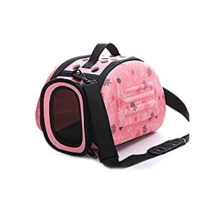 Urbancart Printed Travel/Outdoor pet Carrier for Cats, Puppies Sling Bag (Small) (Pink) (35L*23B*20H cm)