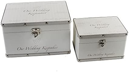 Wedding Keepsake Trunks Set Of 2 Amazon Co Uk Baby