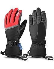 MCTi Ski Gloves,Winter Waterproof Snowboard Snow 3M Thinsulate Warm Touchscreen Cold Weather Women Gloves Wrist Band