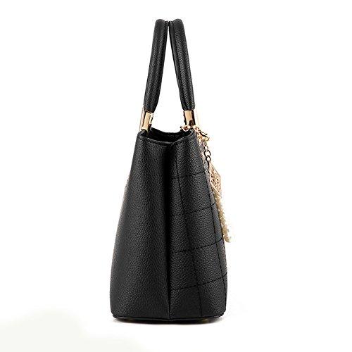 Tote Bag Handle Women's Satchel PU Blue Shoulder Handbags Messenger Purse Bag SUNROLAN Top Leather UHpp1