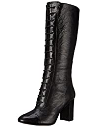 Nine West Women's Waterfall Leather Lace-Front Boot