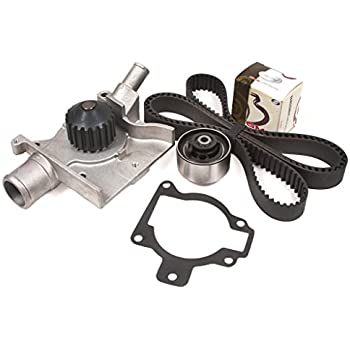 Evergreen TBK283WPT 97-02 Ford Escort Mercury Tracer 2.0L SOHC 8V Timing Belt Kit Water Pump
