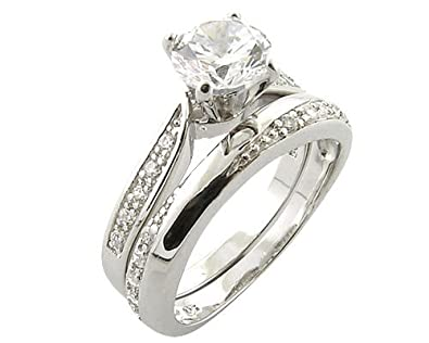 Accessories of Envy PlatinumLook 925 Sterling Silver 076ct