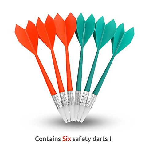 Piero Lorenzo Soft Tip Safety Darts and Dart Board - Great Games for Kids - Leisure Sport for Office (Set) (Darts)