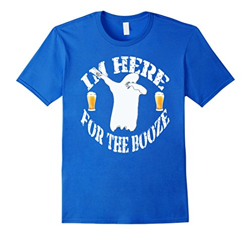 [Mens Funny Dabbing Ghost Costume Halloween T-Shirt Dab For Booze Large Royal Blue] (Play On Words Costume Ideas Of Halloween)