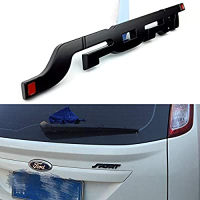 Wesport 3D Metal SPORT Premium Car Side Fender Rear Trunk Emblem Badge Decals for Any Clean Flat Surface - vehicle, Boor Body, Boot, Etc (black): Automotive