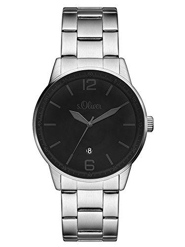 s.Oliver Herren-Armbanduhr Analog Quarz Edelstahl SO-3098-MQ