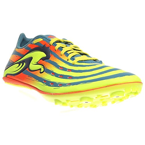 PUMA Men's TFX Sprint V4 Track and Field Shoe,Metallic Blue/Fluorescent Yellow/Fluorescent Peach,9 M US