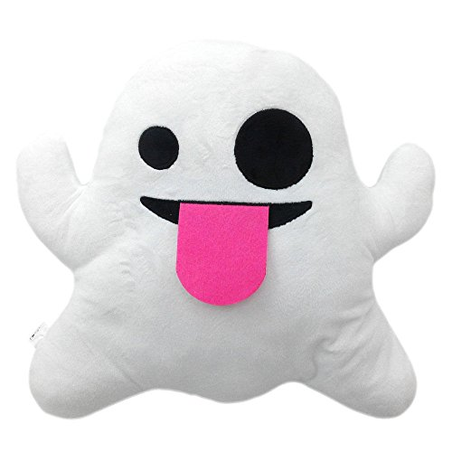 Ghost Emoji Smiley Emoticon Cushion Pillow Stuffed Plush Toy Doll Poop Emoji Face Bed Pillow Home Living Room Decoration Pillows by WEP