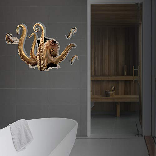 WOCACHI Wall Stickers Decals 3D Large Octopus Wall Sticker Decals Boys Kids Home Living Room Bedroom Decor Art Mural Wallpaper Peel & Stick Removable Room Decoration Nursery Decor]()