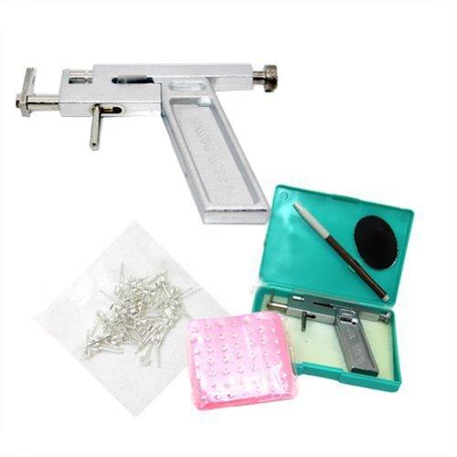 Getbetterlife Steel Ear Body Piercing Gun 100 Sets Steel Studs Supply