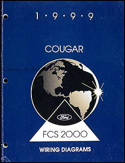1999 mercury cougar wiring diagram manual original paperback – 1999