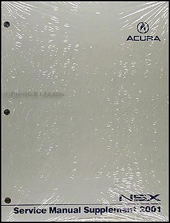 Download 2001 Acura NSX Repair Shop Manual Original Supplement pdf
