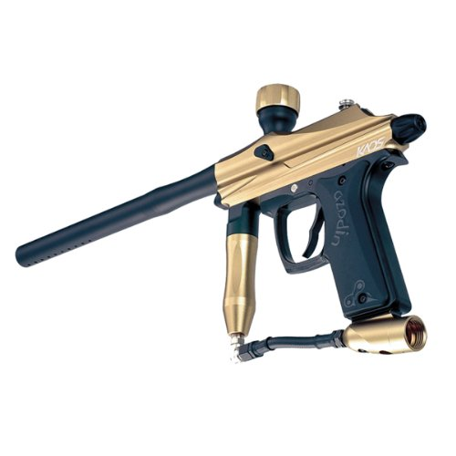 Azodin Kaos Semi-Auto Paintball Marker Gun - Black/Gold
