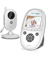 "Babymonitor Babyphone mit Kamera 2.4"" Funk Video Kamera Baby Monitor Babyviewer Überwachungskamera Nachtsicht/Pan&Tilt/TV out/Temperatursensor/Schlaflieder"