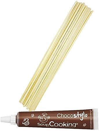100 palitos de madera para algodón de azúcar + Tubo de chocolate ...