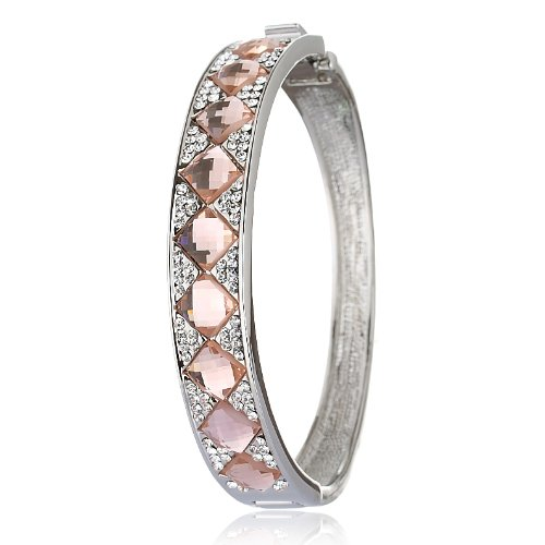 Celebrity inspired bangle bracelet and beautiful vintage shower of Swarovski crystals & diamond shape pattern - Topaz , Janeo Bangles & (Halloween Costumes With Next Day Delivery)