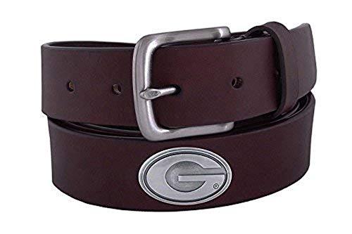 NCAA Georgia Bulldogs Brown Leather Concho Belt, -