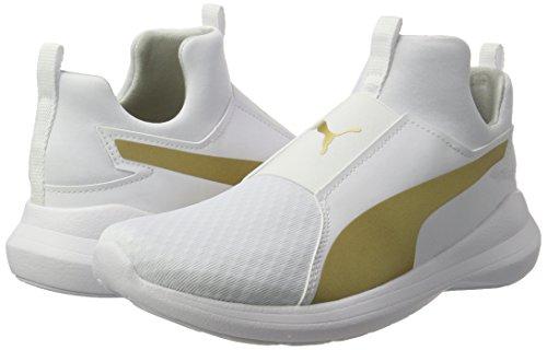 Gold Rebel team Zapatillas Mid white Wns Puma Blanco Para Mujer zqHPfwF