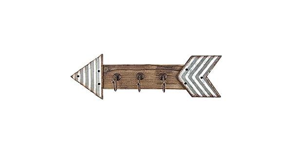 Amazon.com: Metal galvanizado rústico y flecha de madera ...