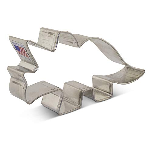 Triceratops Dinosaur Cookie Cutter - 4.68 Inch - Ann Clark - USA Made Steel