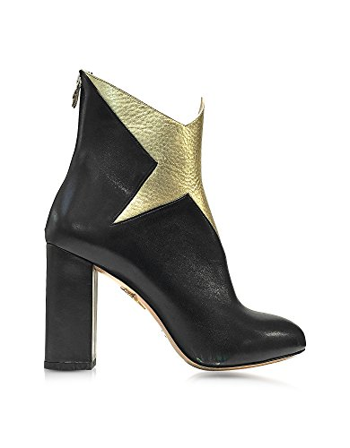 charlotte-olympia-womens-f164951002-black-gold-leather-ankle-boots