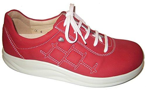 Finn Comfort - Zapatos de cordones de Piel para mujer Rojo rojo Rojo - Indianred/Petka