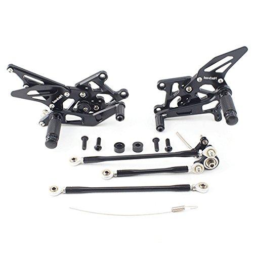 Lextek Black Rear Sets for CBR600RR (07-12) (RRSTS003)