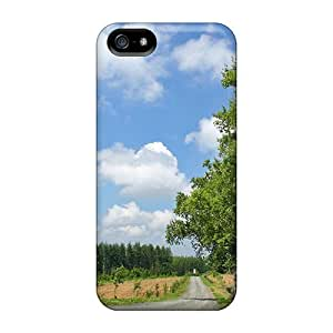 For Iphone 5/5s Premium Tpu Case Cover Rural Road In Hokkaido Japan Protective Case