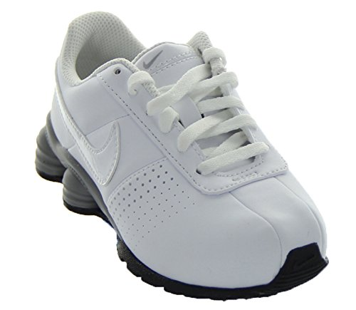 Nike Boys Shox Deliver SMS PS Sneaker Shoes-White/Metallic Silver-3