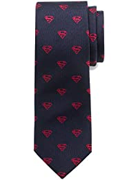 Mens Classic Superman Shield Silk Tie (Toddler/Little Kid/Big Kid)
