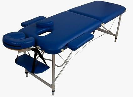 Lettino Da Massaggio Portatile 10 Kg.Lettino Massaggio Massaggi In Alluminio Pesa Solo 10kg Blu