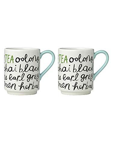 Kate Spade New York Piping Hot Tea Mug Set of Two (High Tea New York)