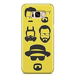 Samsung S8 Case breaking Bad Case HEISENBERG FACES Tv Show Samsung Samsung S8 Cover Wrap AroundLight weight and tough case