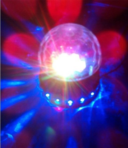 PYSICAL Black LED RGB Crystal Rotating Magic Ball Sunflower Colorful Lighting Lamp, Perfect Christmas Gift, Best for Party, Disco Dj Stage Light, Stage Lighting for Xmas Party Club Pub Birthday