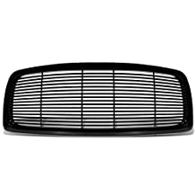 Dodge Ram 1500/2500/3500 ABS Plastic Glossy Horizontal Fence Style Front Bumper Grille (Black)