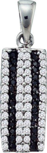 10 k or blanc Diamant 0.36 Dwt Pavée-Pendentif or de haute qualité en or 9 carats