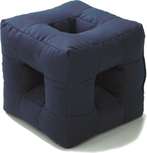 All-Sound-Catch Cubic Pillow (Dark Navy) by FUJIPACKS