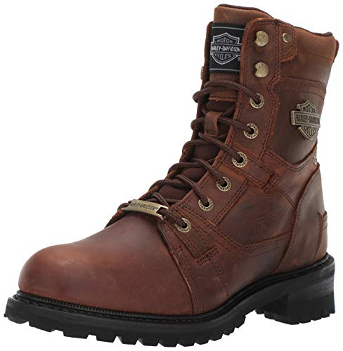 Harley-Davidson Men's Haines Motorcycle Boot Brown 10.5 M US