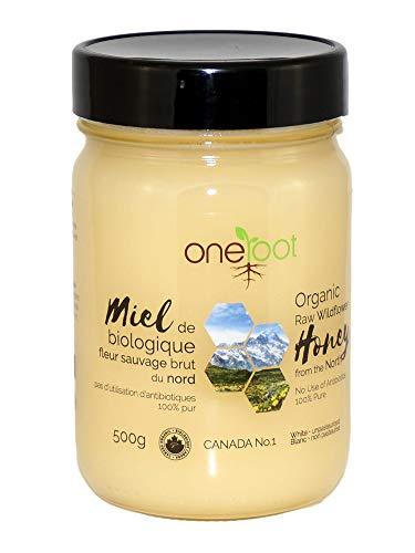 ONEROOT Certified Organic Honey - Canadian Raw Wildflower 500g