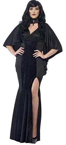 Ladies Plus Size Black Vampire Vampiress Witch Halloween