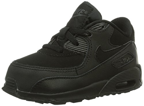 db9d1ae7628c Galleon - NIKE 408110-091 Kids Infant AIR MAX 90 (TD) Black Dark Grey