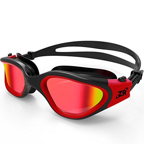 Swimming Goggles, ZIONOR G1 Polarized Swim Goggles with Mirror/Smoke Lens UV Protection...