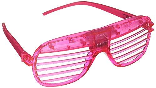 NaRaMax 12 Pack LED Sunglasses Glow Glasses LED Flashing Futuristic Rave Glowing Shades Rave Party
