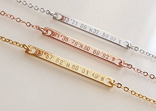 Dainty Coordinate Necklace Personalized Silver product image