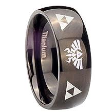 The Legend of Zelda Titanium Steel Triforce Ring