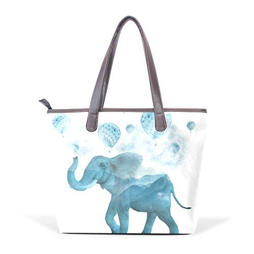 Mano De Elefante Pu Mango 002 Arte Bolsa Asas Hombro Coosun M 40x29x9 Cuero Grandes Cm Multicolor HCqn1BCWz