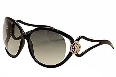 Roberto Cavalli Grafias 893s Womens/Ladies Oversized Full-rim Gradient Lenses Crystals Sunglasses/Sun Glasses